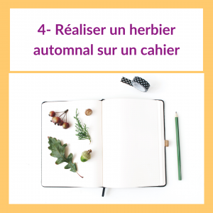 4 activités pour les enfants sur le thème de l'automne - Herbier