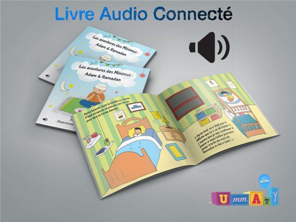 """Livre audio connecté - Les aventures des Minimuz """"Adam & Ramadan"""""""