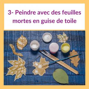 4 activités pour les enfants sur le thème de l'automne - Feuilles Mortes